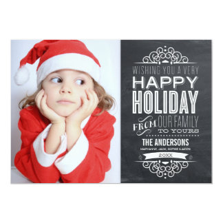 VINTAGE CHALKBOARD | HOLIDAY PHOTOCARD CARD