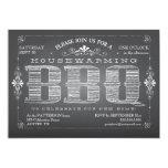 "Vintage Chalkboard Housewarming BBQ Invitation 5"" X 7"" Invitation Card"