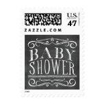 Vintage Chalkboard Lettering Baby Shower Stamp