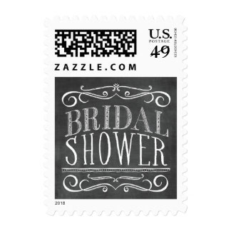 Vintage Chalkboard Lettering Bridal Shower Stamp