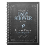 Vintage Chalkboard Look- Baby Shower Guest Book- Notebook
