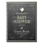 Vintage Chalkboard Look- Baby Shower Guest Book- Spiral Notebooks