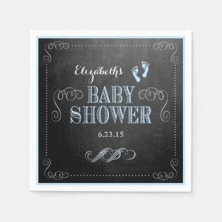 Vintage Chalkboard Look-Baby Shower Disposable Napkins