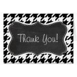 Vintage Chalkboard look; Black & White Houndstooth Greeting Card