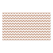 Vintage Chalkboard look; Brown Chevron Pattern Business Cards