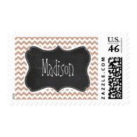 Vintage Chalkboard look; Brown Chevron Pattern Stamps