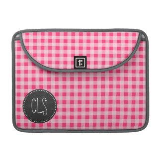Vintage Chalkboard look; Hot Pink Gingham Sleeve For MacBook Pro