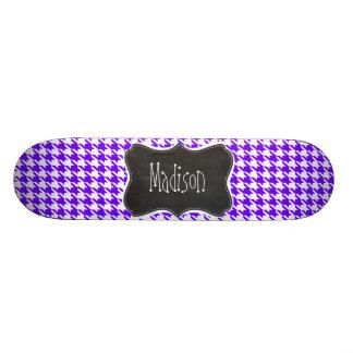 Vintage Chalkboard look; Indigo Houndstooth Skate Decks
