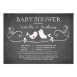 Vintage Chalkboard Love Birds Baby Shower Personalized Announcement