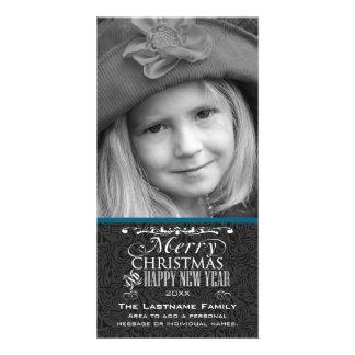 Vintage Chalkboard Merry Christmas Photo Card