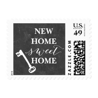 Vintage Chalkboard New Home Sweet Home Postage