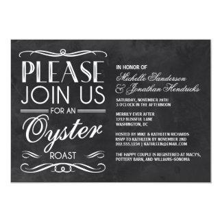 Vintage Chalkboard Oyster Roast 5x7 Paper Invitation Card