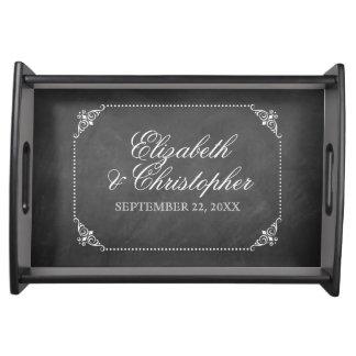 Vintage Chalkboard Personalized Serving Tray