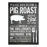 """Vintage Chalkboard Pig Roast Invitation 5"""" X 7"""" Invitation Card"""