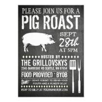 Vintage Chalkboard Pig Roast Invitation