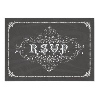 Vintage Chalkboard R.S.V.P. Card Invitations