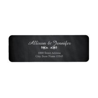 Vintage Chalkboard Return Address Label