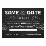 Vintage Chalkboard Save the Date Custom Announcements