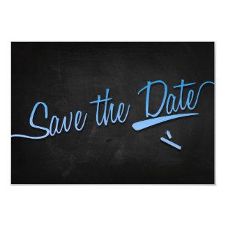 Vintage chalkboard Save the dates + lightblue chal Card