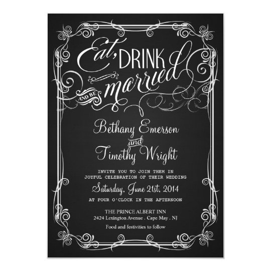 Vintage chalkboard semi formal wedding invitations zazzle vintage chalkboard semi formal wedding invitations stopboris Image collections