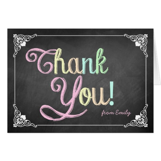 vintage chalkboard thank you card zazzle com