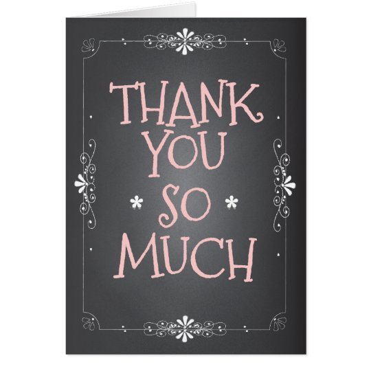 Vintage Chalkboard Thank You So Much Card