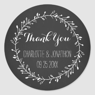 Vintage Chalkboard Thank You Wedding Favor Tags