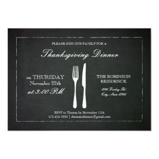 Vintage Chalkboard Thanksgiving Invitation