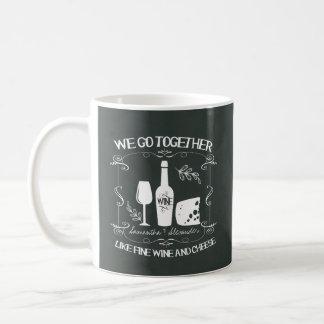 Vintage Chalkboard We Go Together Typography Classic White Coffee Mug