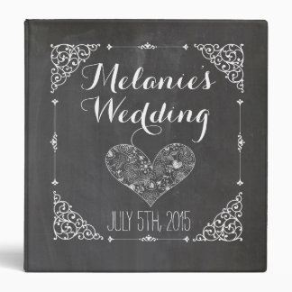 Vintage Chalkboard Wedding Album or Cookbook Binder