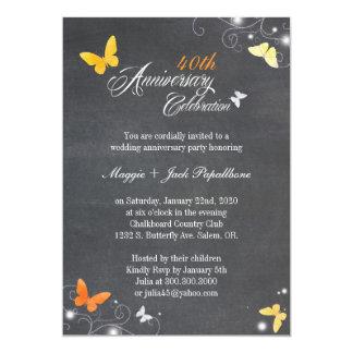Vintage Chalkboard Wedding Anniversary Invitations