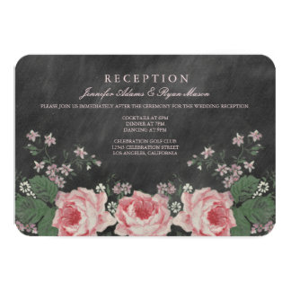 VINTAGE CHALKBOARD WEDDING RECEPTION CARDS