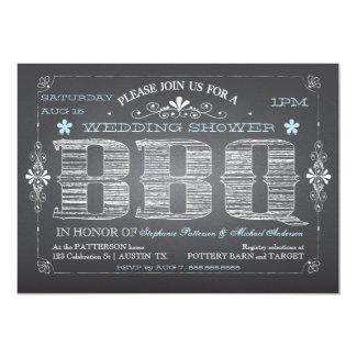 Vintage Chalkboard Wedding Shower BBQ Invitation