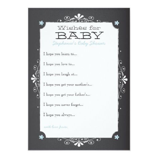 vintage chalkboard wishes for baby shower card zazzle