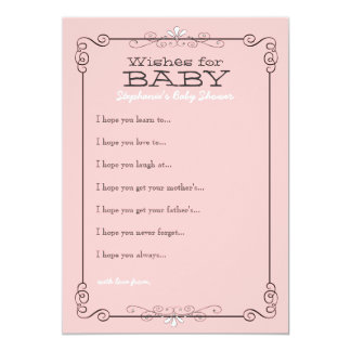 Vintage Chalkboard Wishes for Baby Shower Card Custom Invitations
