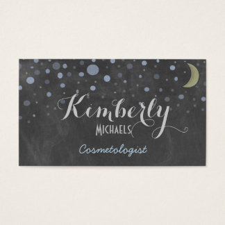 Vintage Chalkboard with Stars and Moon Business Card