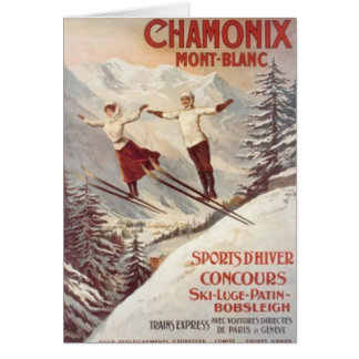Vintage Chamonix, Mont-Blanc, France - Card