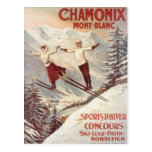 Vintage Chamonix, Mont-Blanc, France - Postcard