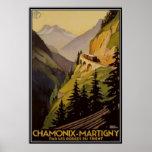Vintage Chamonix, Mont-Blanc, France - Print