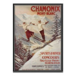Vintage Chamonix, Mont Blanc, Francia - Impresiones