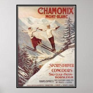 Vintage Chamonix Mont Blanc Francia - Impresiones