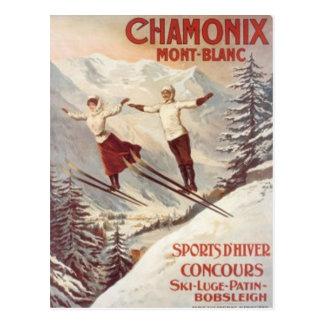 Vintage Chamonix, Mont Blanc, Francia - Tarjetas Postales