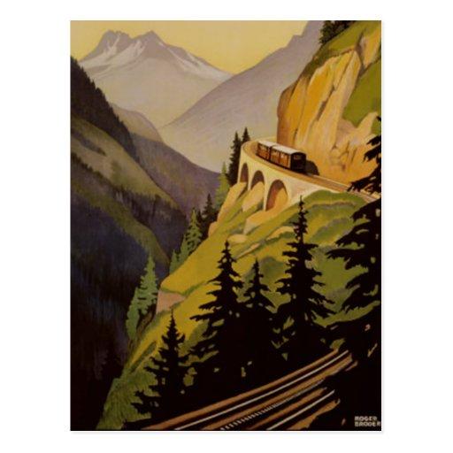 Vintage Chamonix, Mont Blanc, Francia - Tarjeta Postal