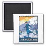 Vintage Chamonix Mont Blanc Fridge Magnet