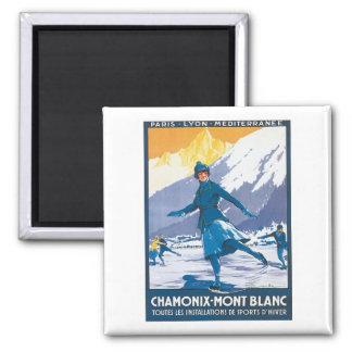 Vintage Chamonix Mont Blanc Magnet