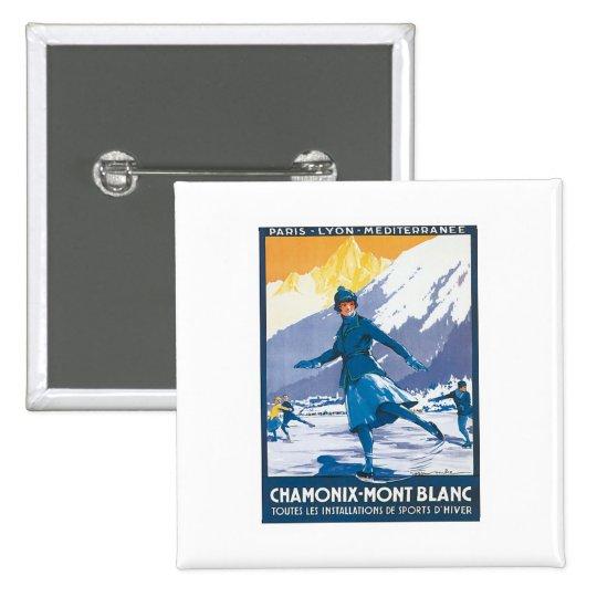 Vintage Chamonix Mont Blanc Pinback Button