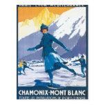 Vintage Chamonix Mont Blanc Postal