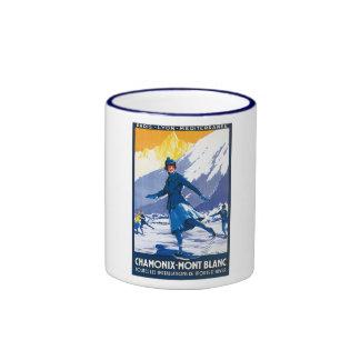 Vintage Chamonix - Mont Blanc Poster Mug