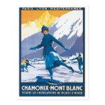 Vintage Chamonix Mont Blanc Tarjetas Postales