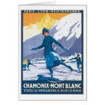 Vintage Chamonix Mont Blanc Tarjeton